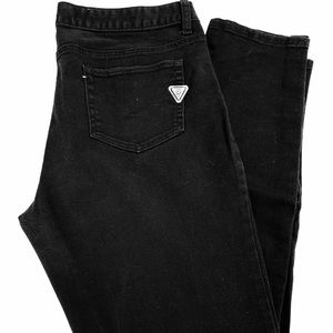 Guess black denim jeans size 34 / 14 16